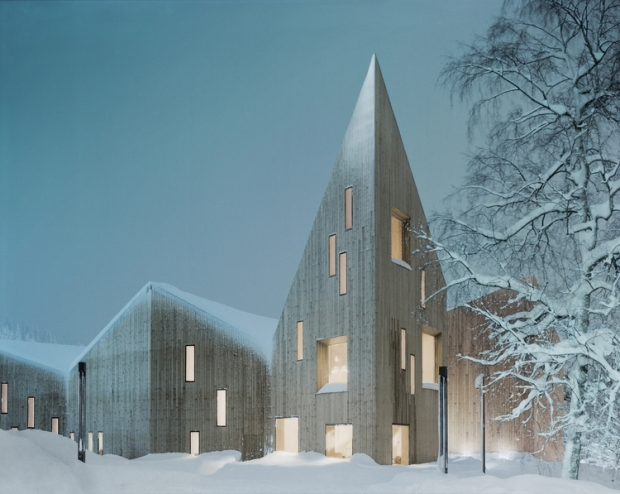 Romsdal Folk Museum by Reiulf Ramstad Architects. Illustration by Erik Hattrem and RRA.