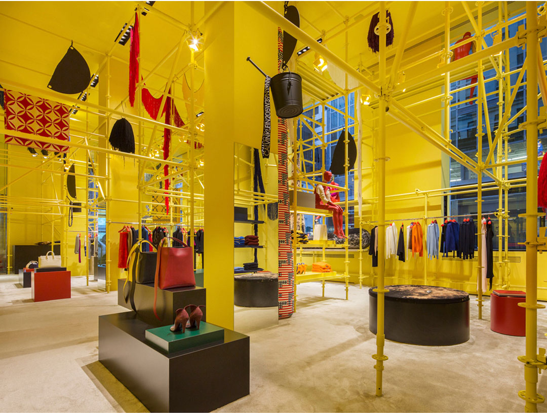Sterling Ruby's new installation at Calvin Klein's Madison Avenue store. All images courtesy of Calvin Klein's Instagram