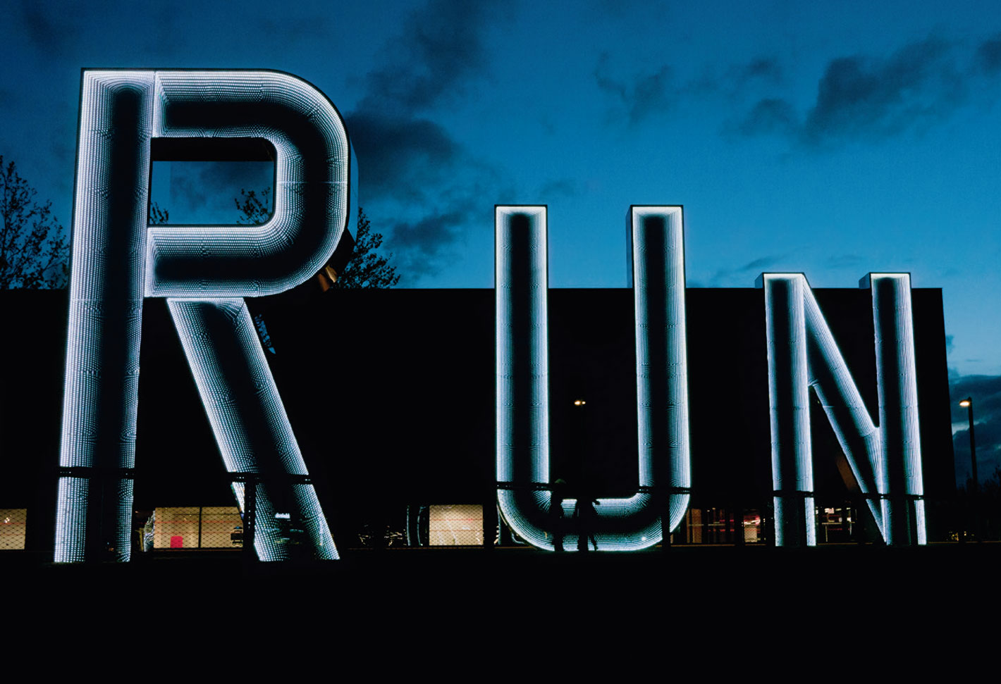 Run (night view) (2012) by Monica Bonvicini