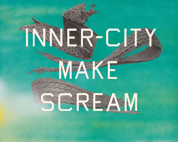 Ed Ruscha Inner-City Make Scream 2014 Acrylic on canvas 40 x 50 inches; 100 x 127 cm ©Ed Ruscha Photo by Paul Ruscha Courtesy of the artist and Gagosian Gallery