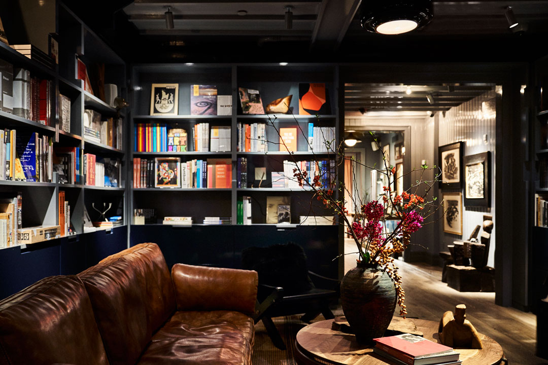 The Phaidon library at Roman and Williams Guild New York