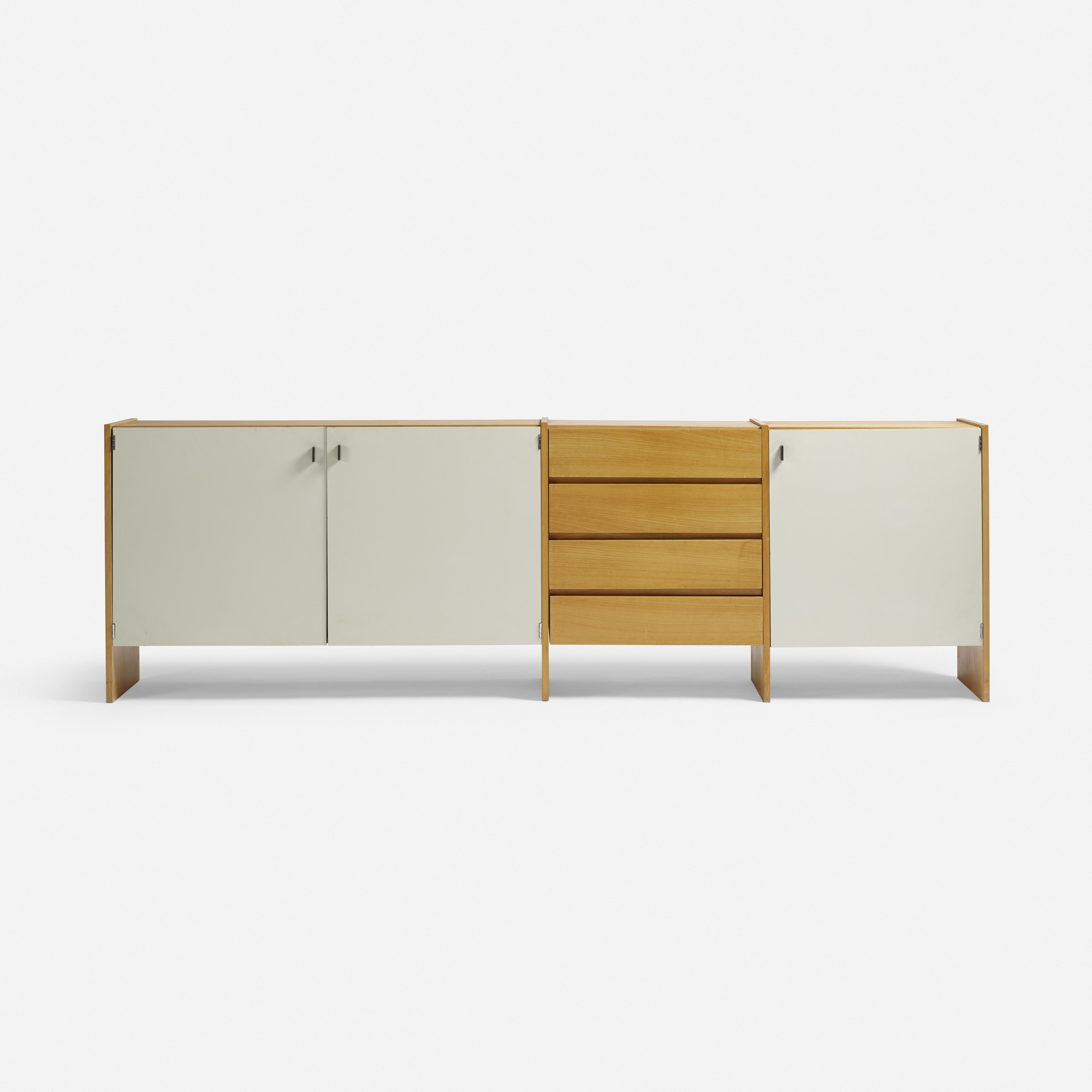 Prototype RZ 57 cabinet, 1957 by Dieter Rams. Image courtesy of Wright auction house