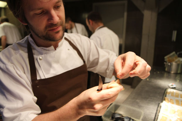 Redzepi prepares the local seafood