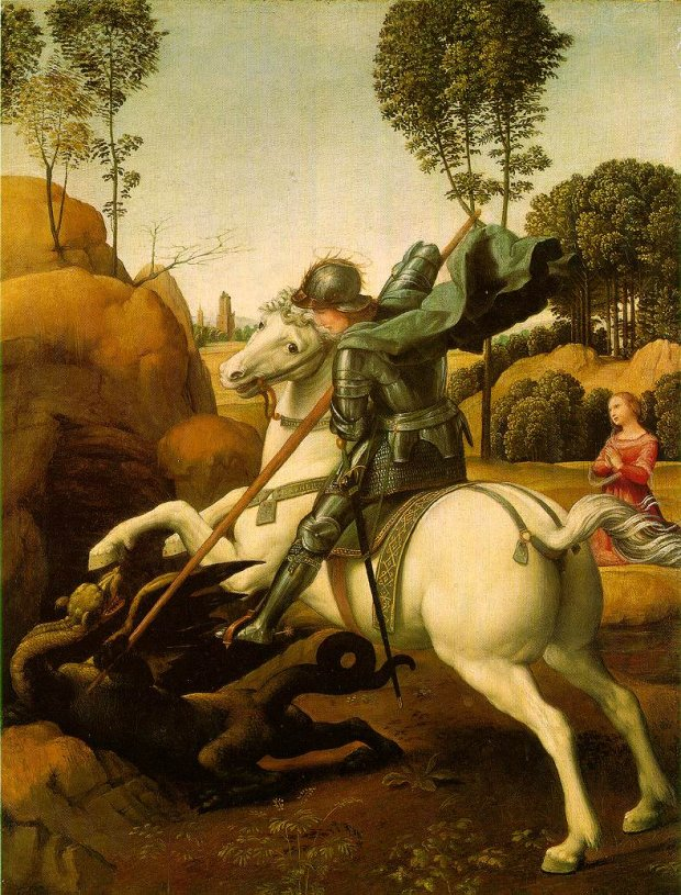 St. George and the Dragon (c. 1504 - 1506) by Raphael