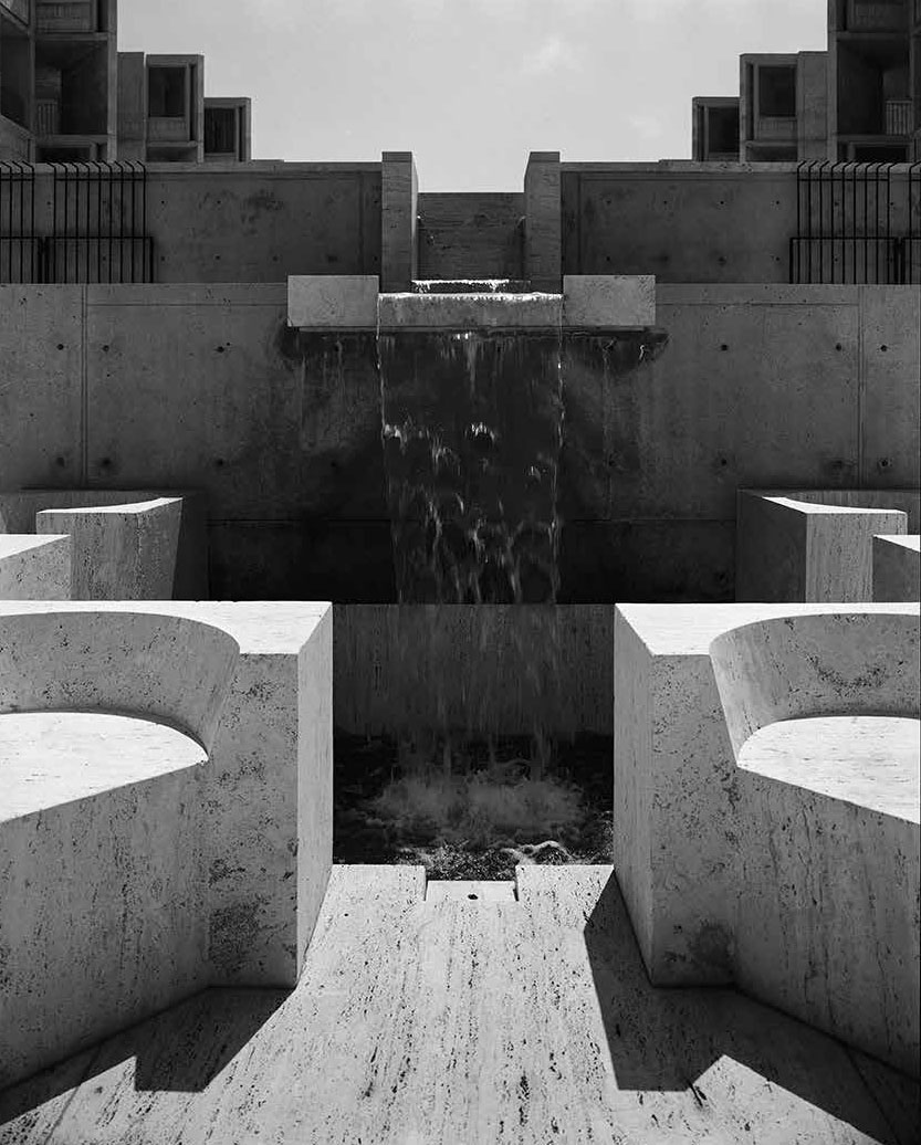 The Salk Institute by Louis Kahn, as photographed by Marvin Rand
