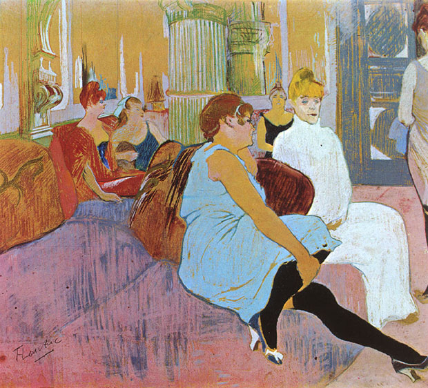 The Salon in the Rue des Moulins (1894) by Toulouse-Lautrec, as reproduced in our monograph