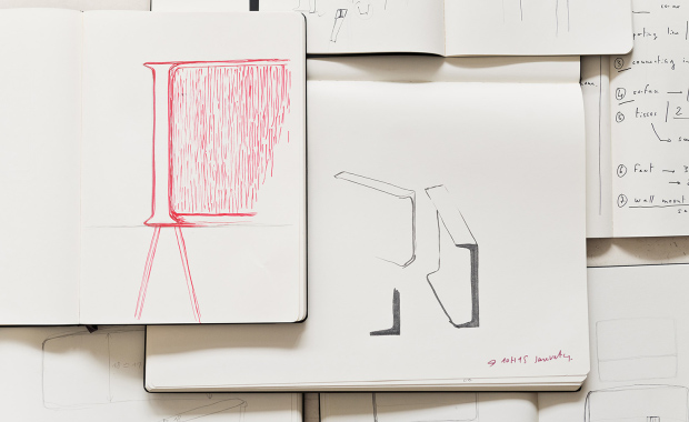 Sketches for Samsung's Serif TV by Ronan and Erwan Bouroullec