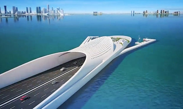 Santiago Calatrava's interconnecting bridge for Doha