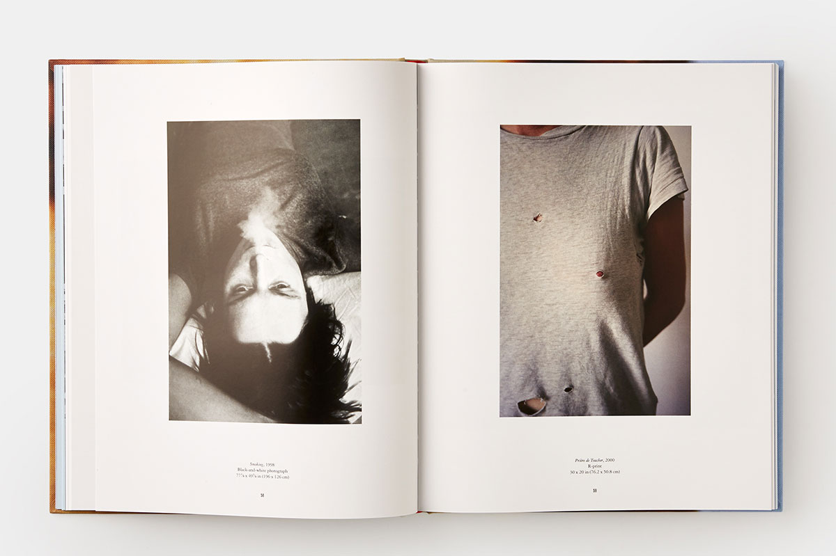 A spread from our New Museum Sarah Lucas book Au Naturel