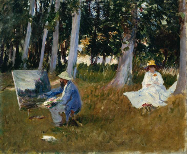 Claude Monet Painting at the Edge of a Wood (1887) by John Singer Sargent