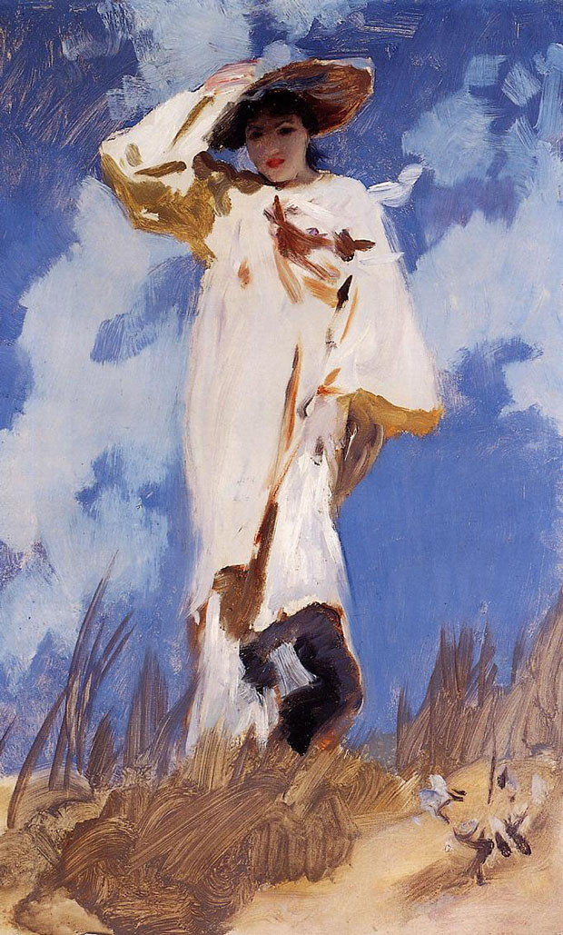 A Gust of Wind (1887) by John Singer Sargent