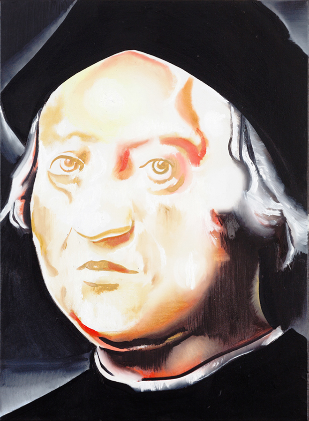 Christopher Columbus II (2014) by Wilhelm Sasnal. Copyright the artist, courtesy Sadie Coles HQ, London