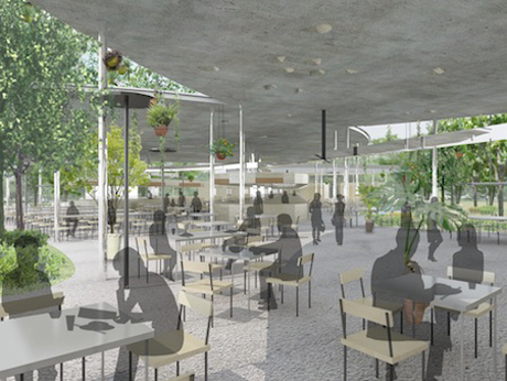 Architect's rendering of Satay by the Bay, Singapore