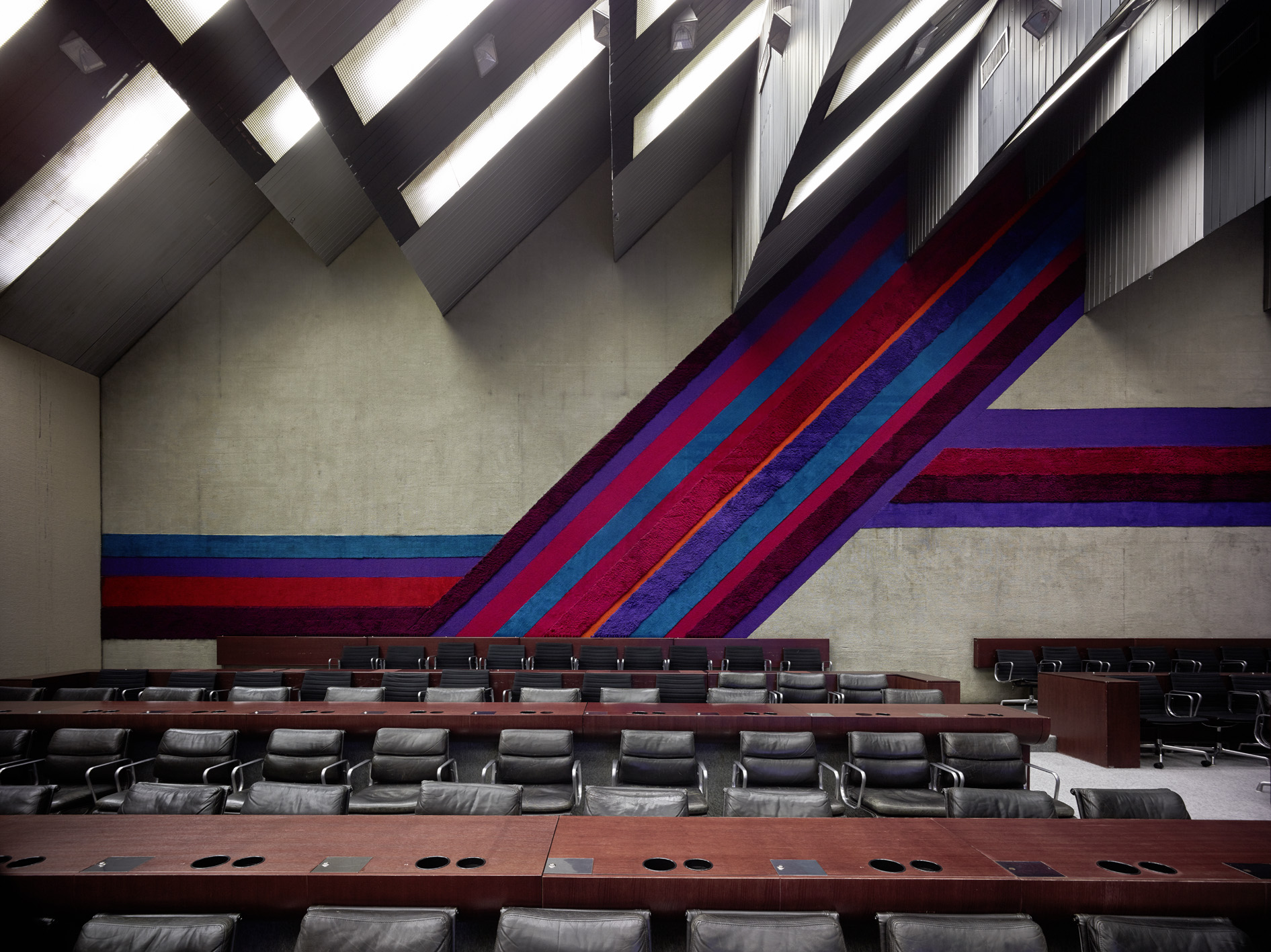 Stojan Maksimovi?, Sava Center, 1979, Belgrade, Serbia. View of conference room. Photo: Valentin Jeck, commissioned by The Museum of Modern Art, New York, 2016.