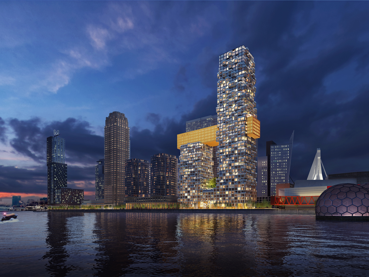 A sax-shaped tower for Rotterdam's skyline
