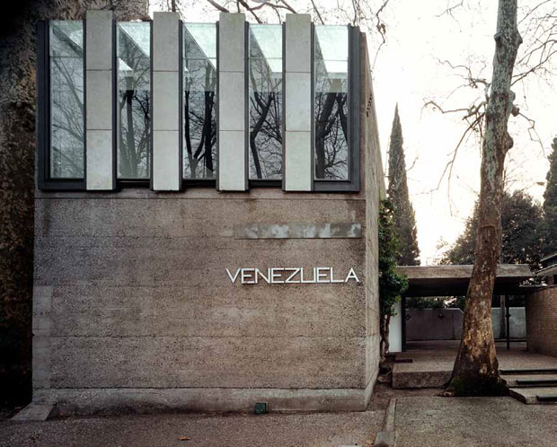 Venezuelan Pavilion, Venice, 1953–6; front elevation  from the garden avenue