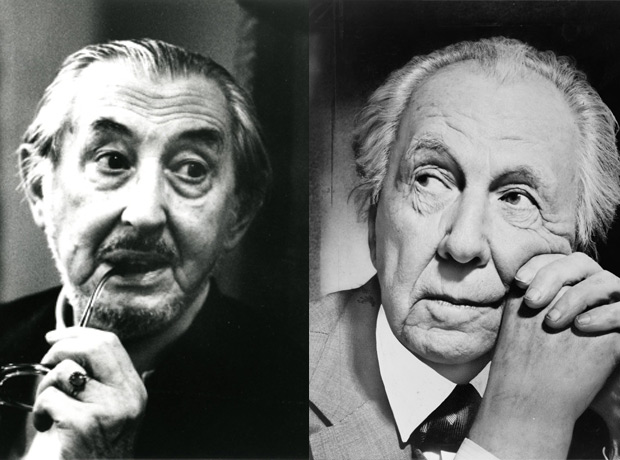 Left: Carlo Scarpa; right: Frank Lloyd Wright
