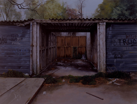 George Shaw, <em>Scenes from The Passion: The Middle of the Week<em> (2002) Humbrol enamel on board
