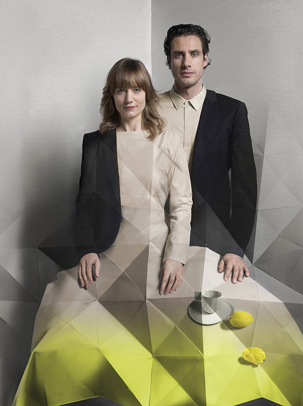 Design Academy Eindhoven graduate Stefan Scholten (right) with his partner, Carole Baijings