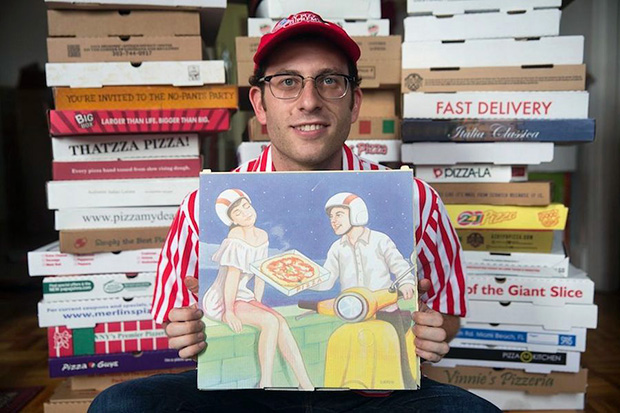Where to Eat Pizza contributor Scott Wiener and his world-breaking pizza box collection