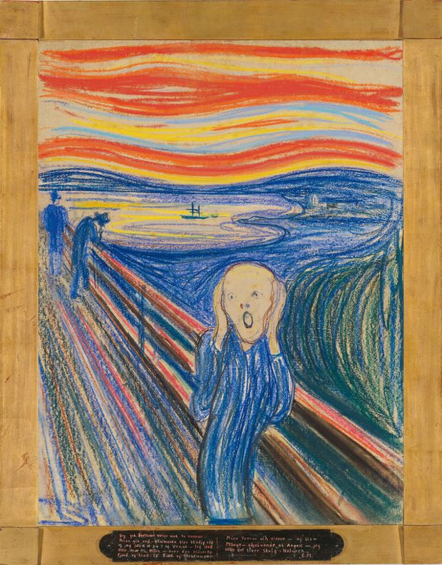 The Scream (1893) by Edvard Munch