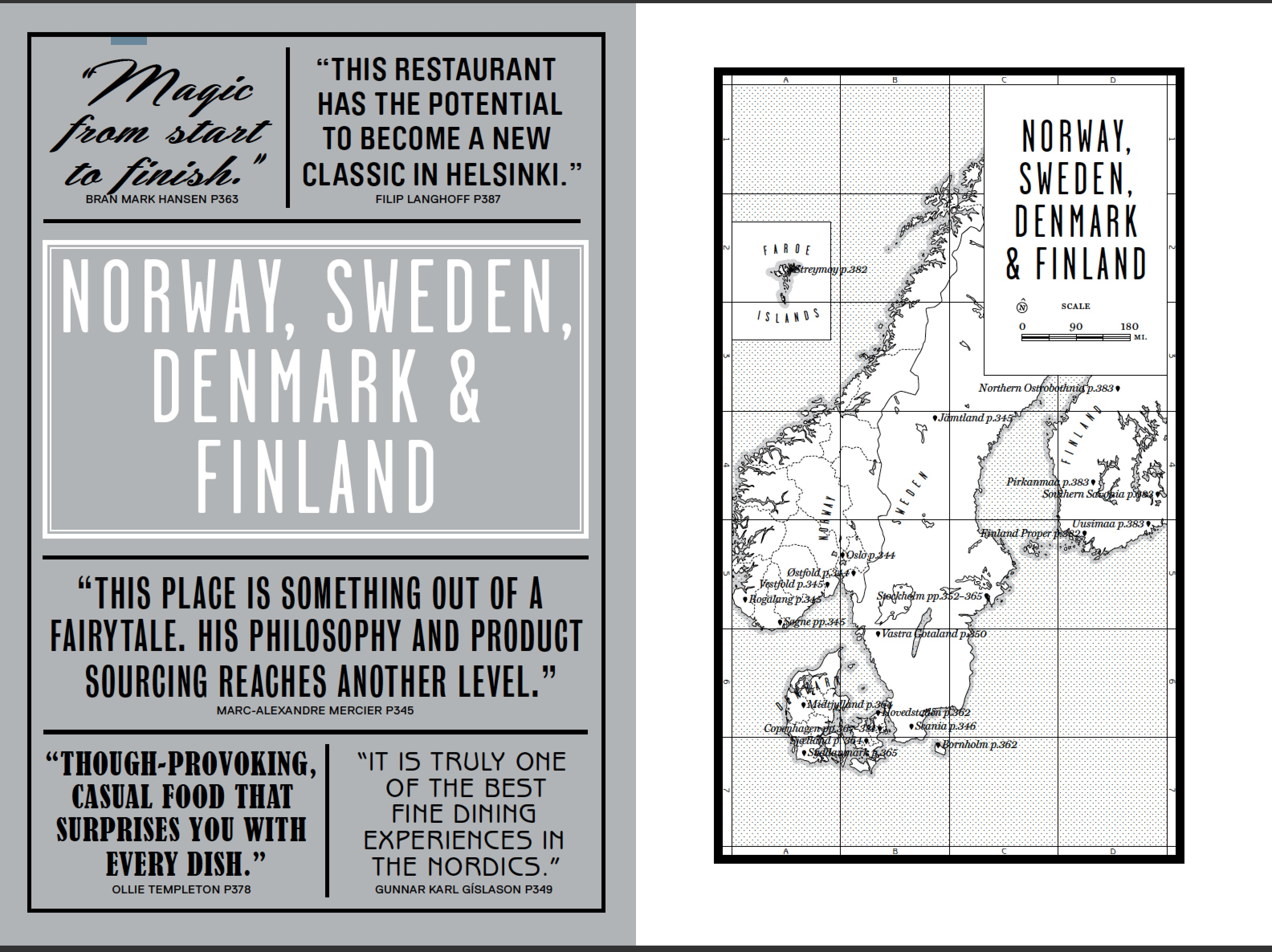 The Norway, Sweden, Denmark and Finland introduction to our book Where Chefs Eat
