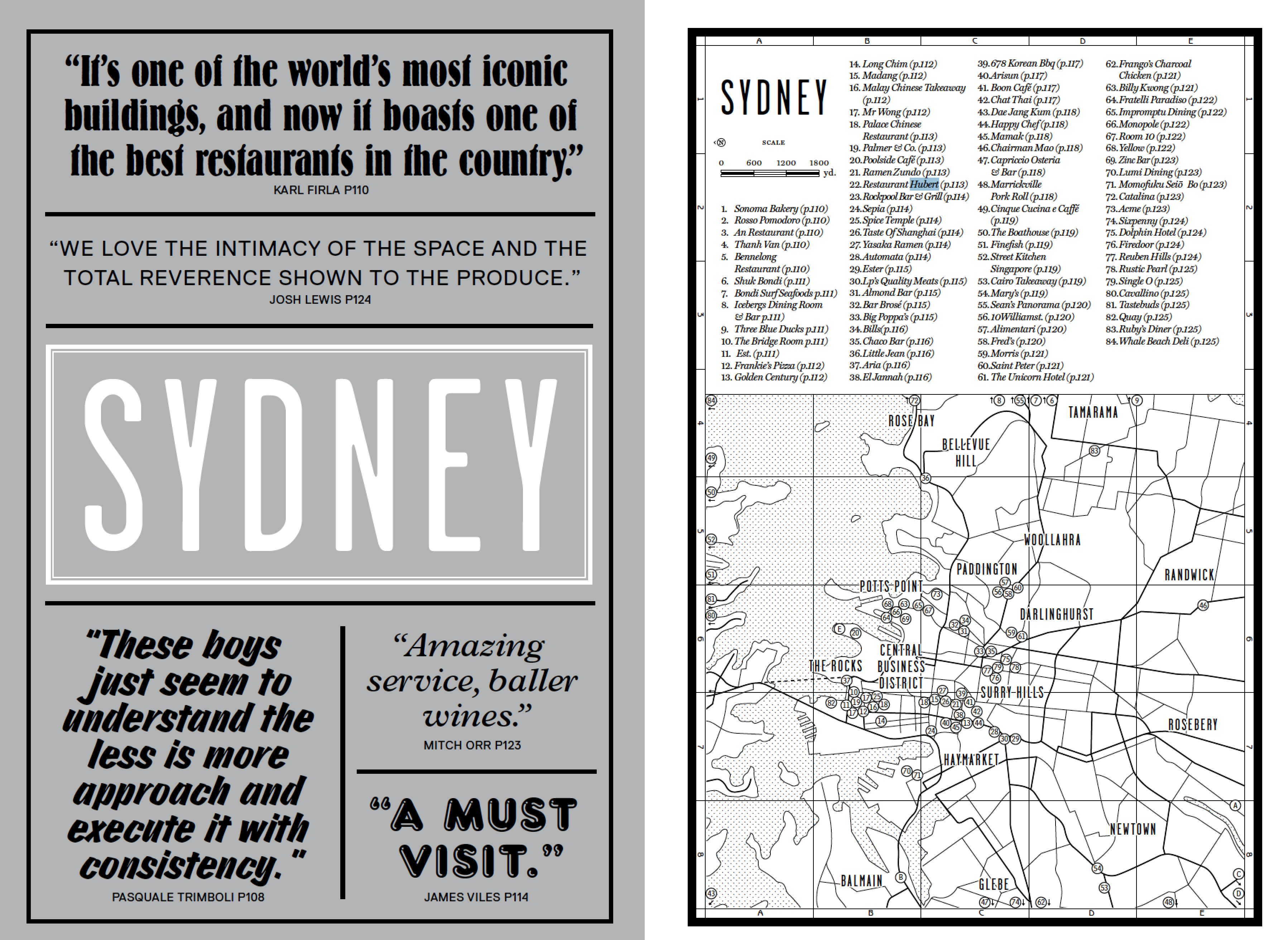 The Sydney introduction from our new book Where Chefs Eat