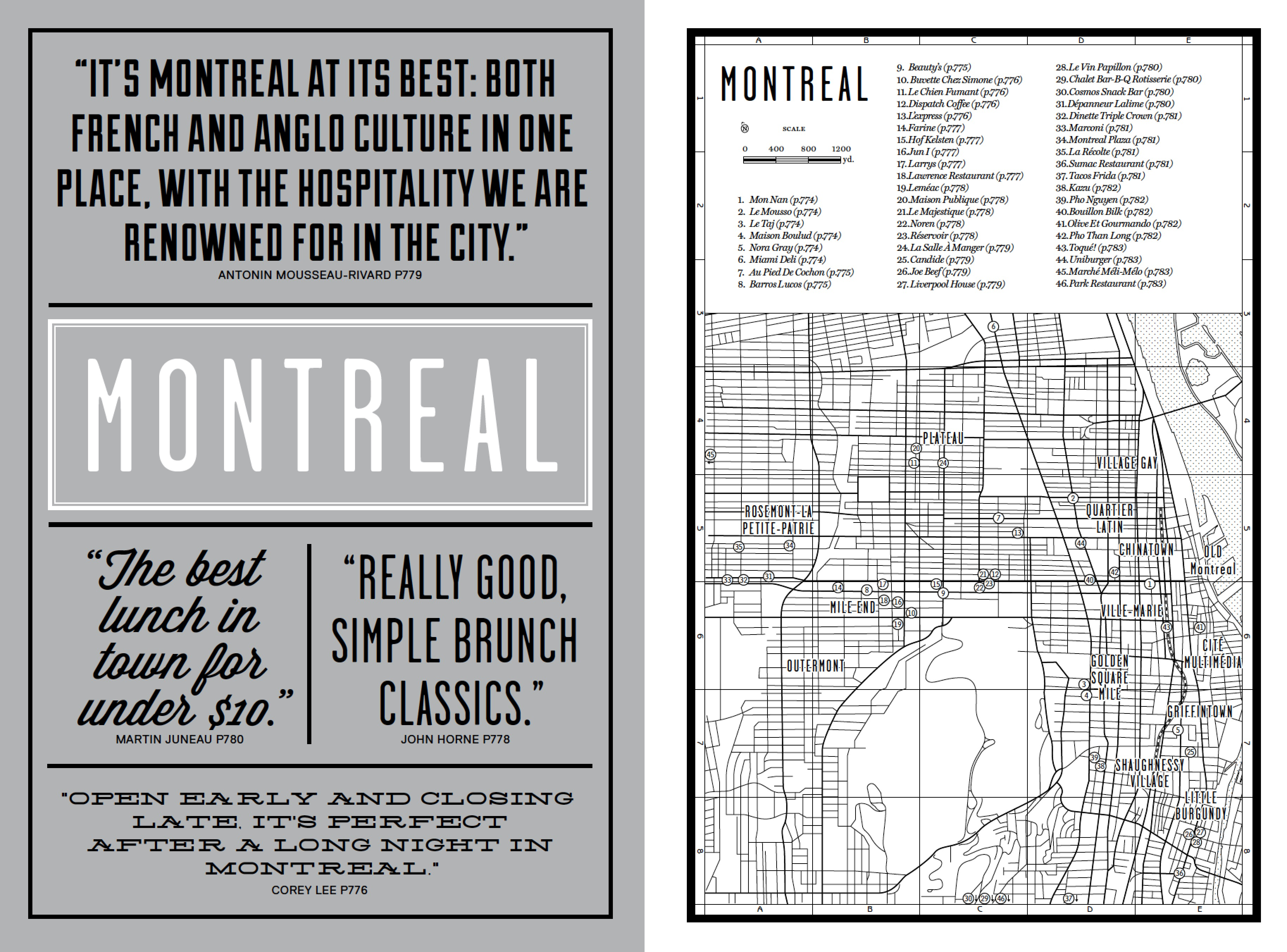 The Montreal introduction from our new book Where Chefs Eat