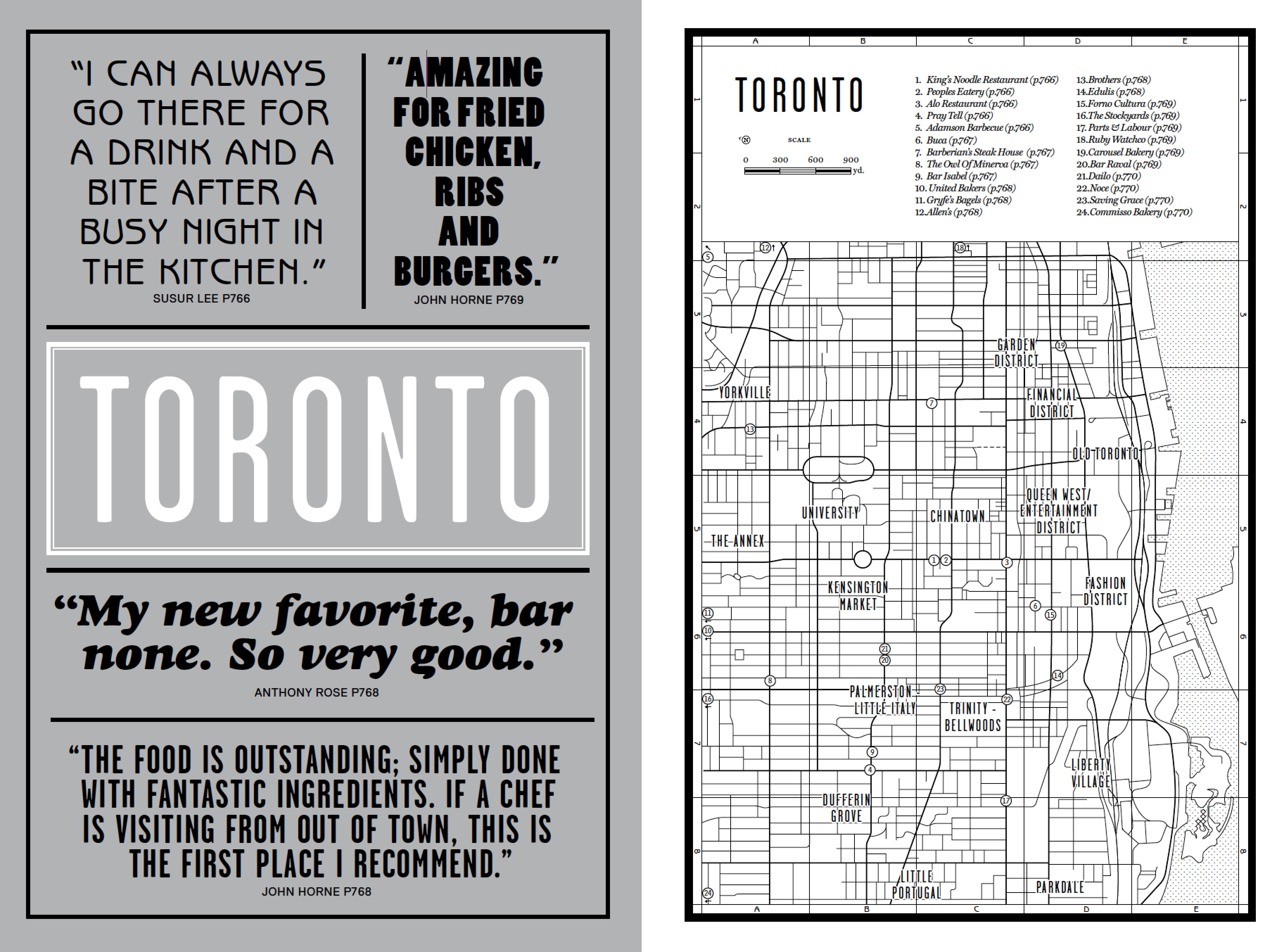 The Toronto introduction from our new book Where Chefs Eat