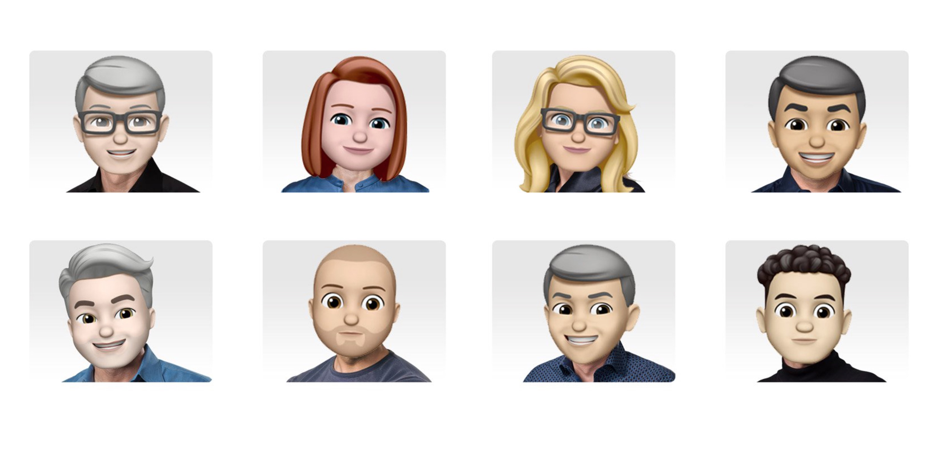 Apple released a set of senior management emojis to mark World Emoji Day