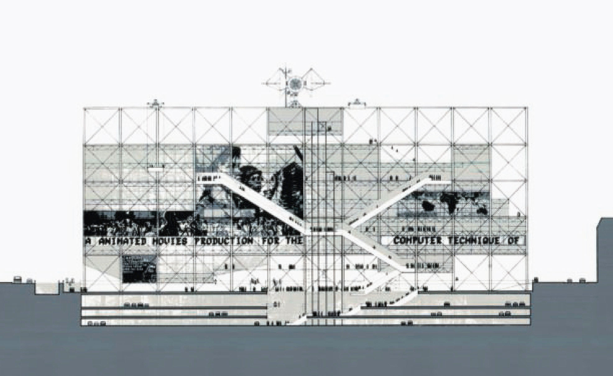 Renzo Piano and Richard Rogers - Pompidou Centre, 1971 Pencil on paper - as featured in Drawing Architecture