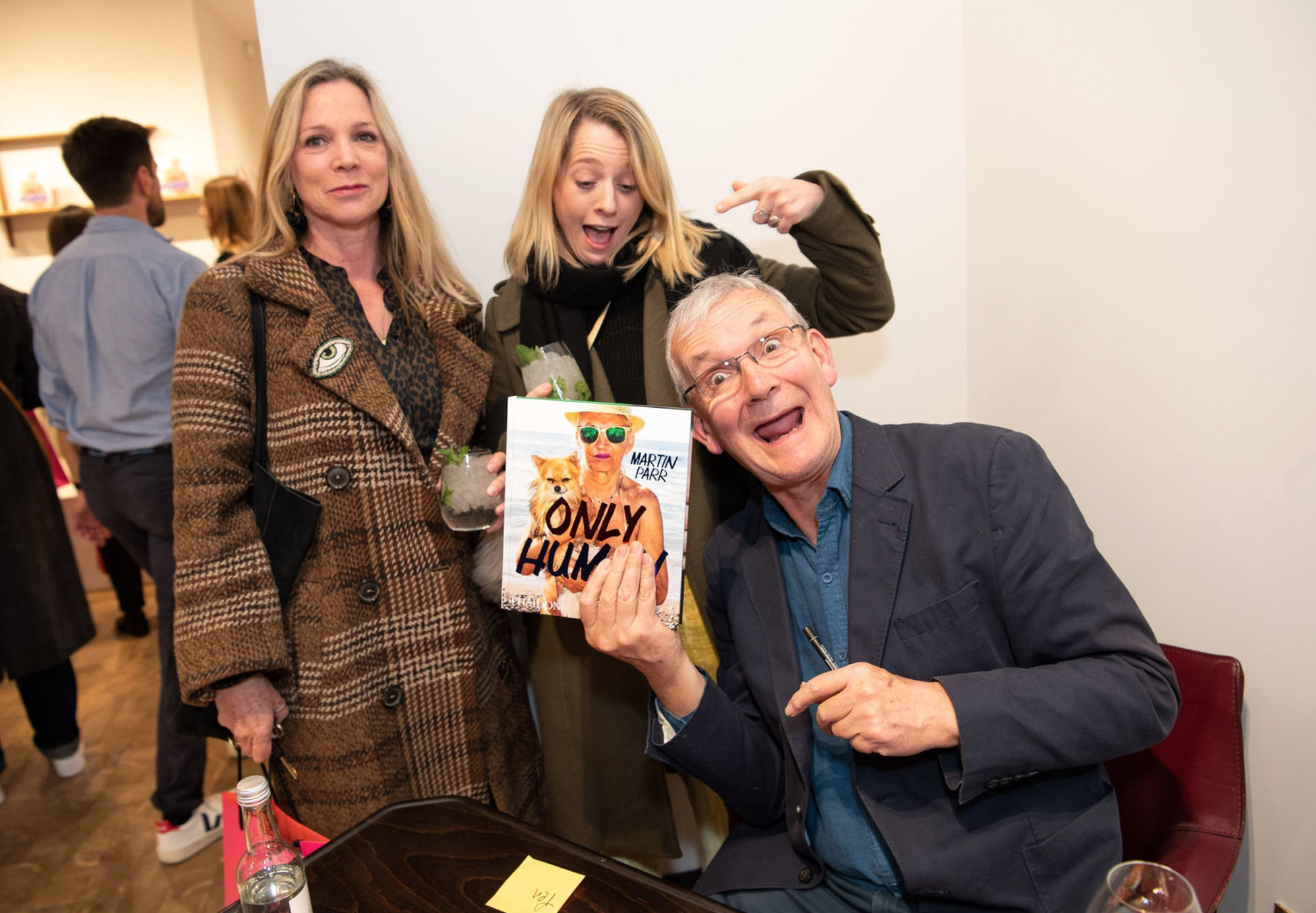 Martin Parr and guests at Paul Smith Photograph by James Mason