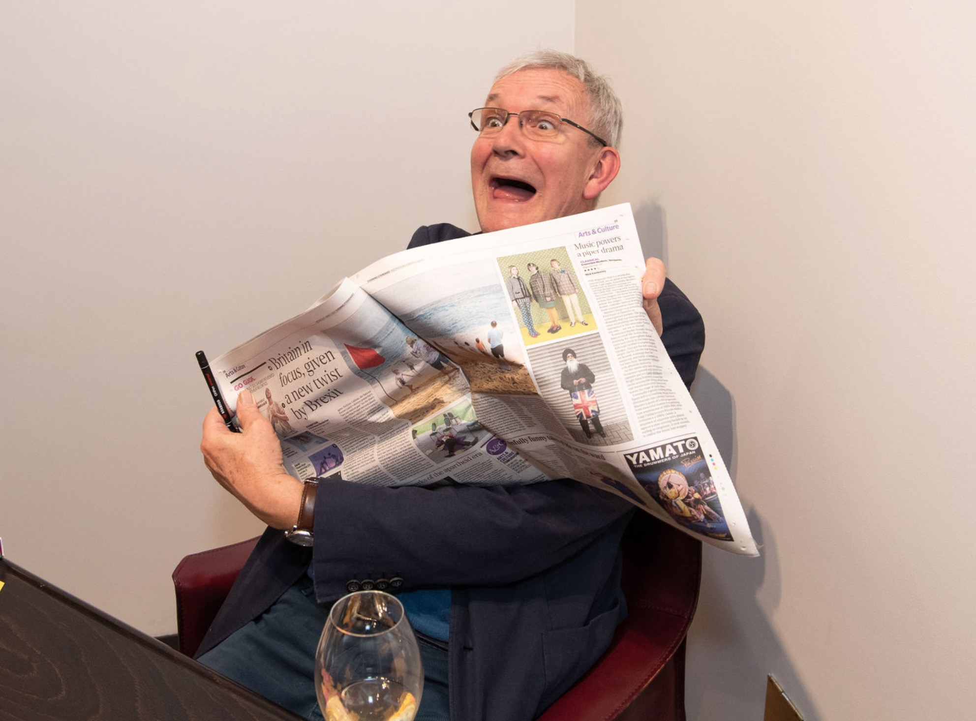 Martin reads his latest reviews - they're all good! Photograph by James Mason