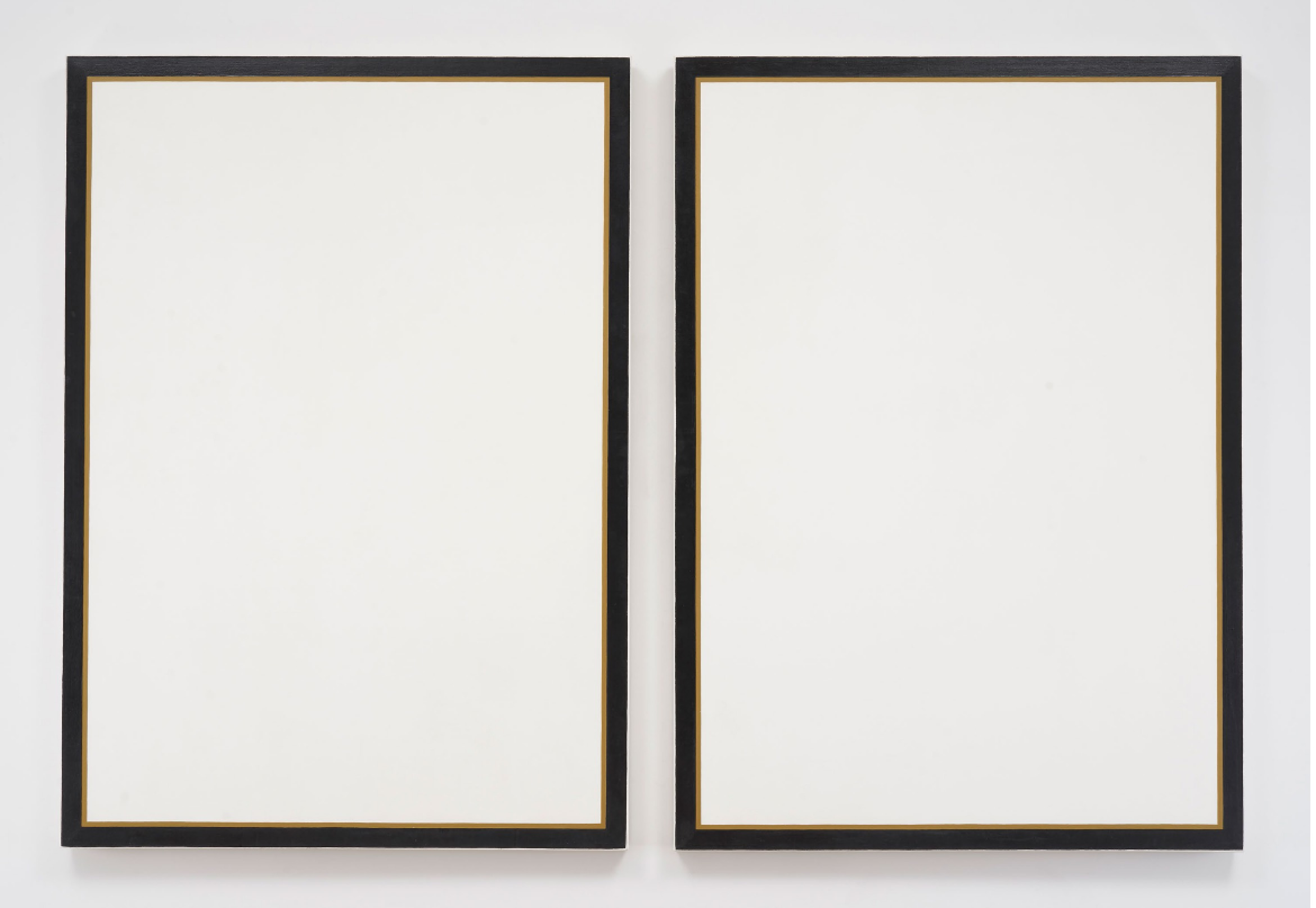 Jo Baer Untitled Diptych, 1966-1968 oil on canvas - image courtesy Pace Gallery