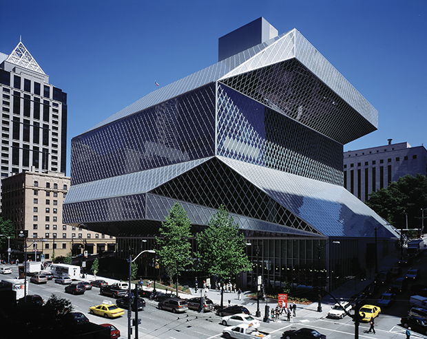 OMA's Seattle Library. Photo courtesy OMA