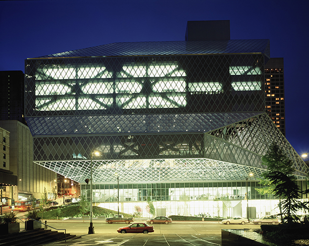 OMA's Seattle Library. Photograph by Philippe Ruault