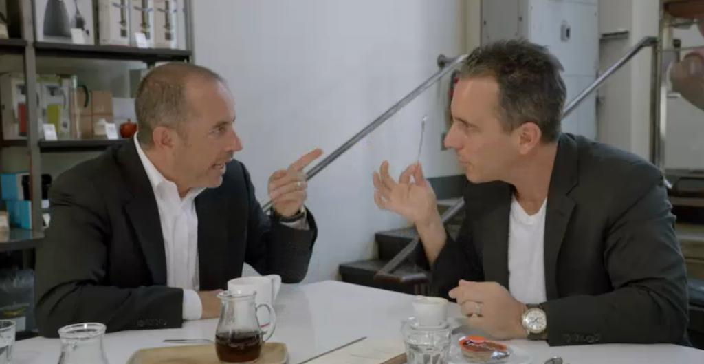 Jerry and Sebastian Maniscalco at Intelligentsia, Los Angeles. All stills courtesy of Comedians in Cars Getting Coffee