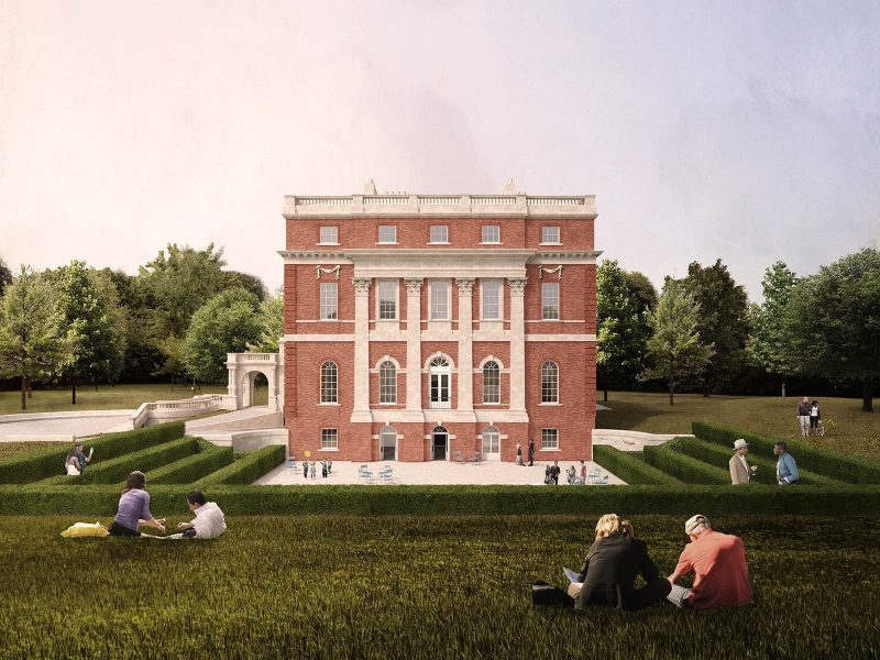One of Selldorf Architects' renderings for Clandon Park. All images courtesy of Malcolm Reading Consultants