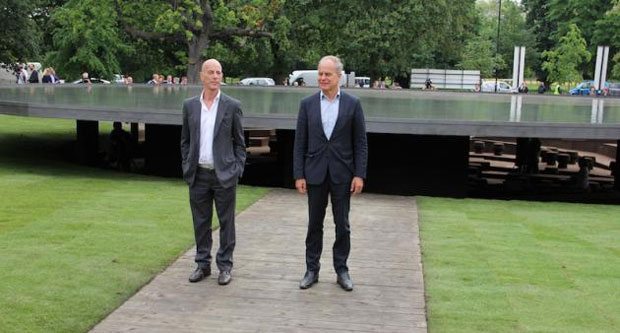 Jacques Herzog and Pierre de Meuron at the 2012 Serpentine pavilion