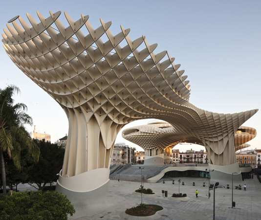 Seville basks in the shade of the Metropol Parasol