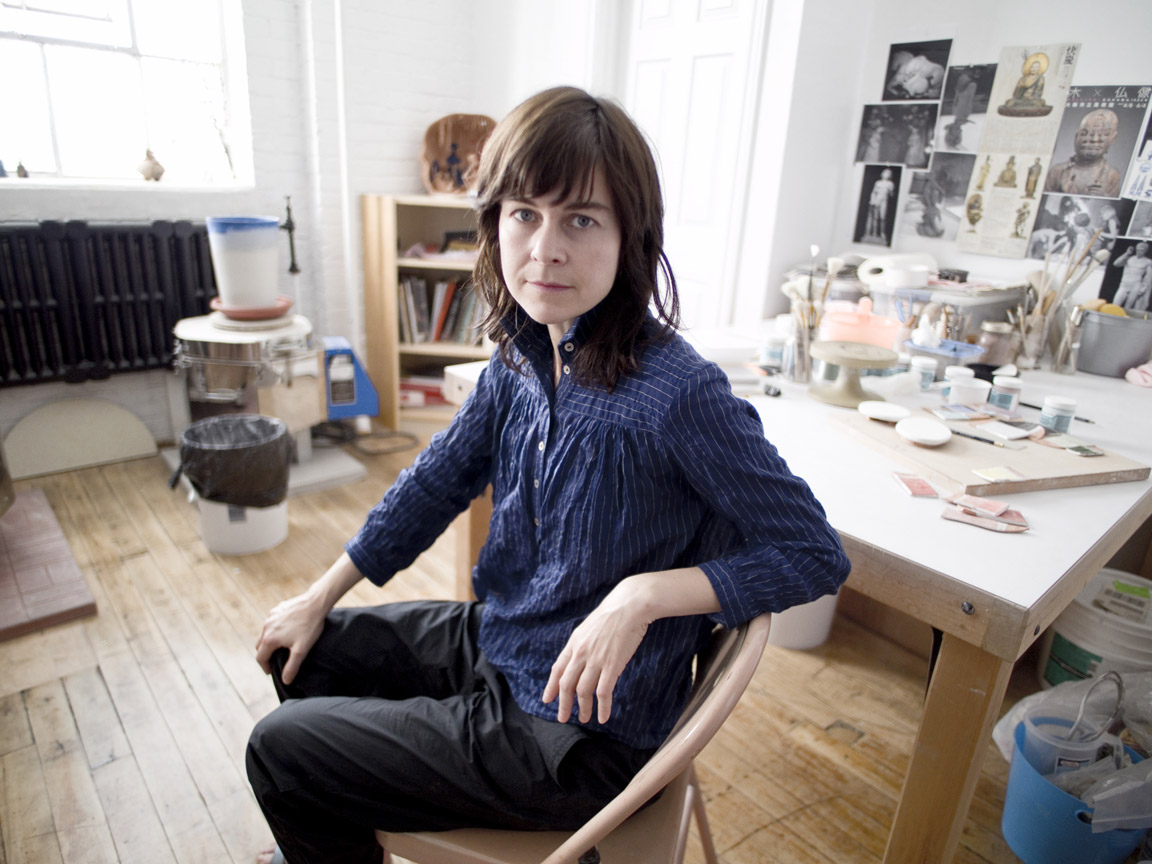 Shary Boyle in her studio, 2017. Photograph by Marc Deguerre
