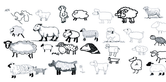 Drawings from The Sheep Market