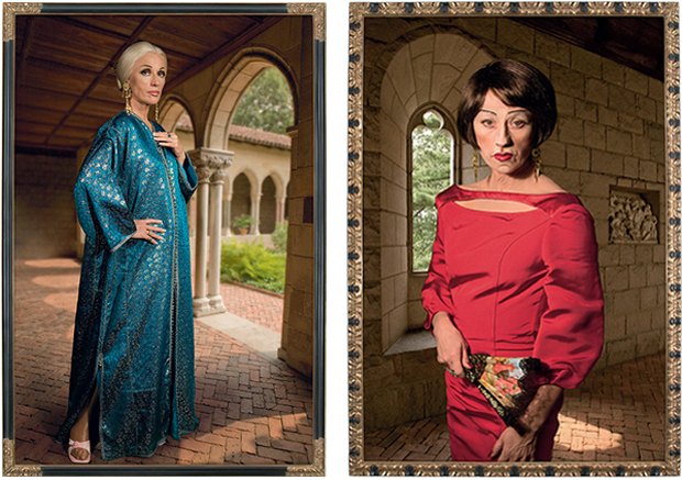 From left: Untitled #466 (2008), Untitled #470, (2008) both by Cindy Sherman