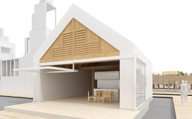 The Life Core House by Shigeru Ban. Image courtesy of house-vision.jp