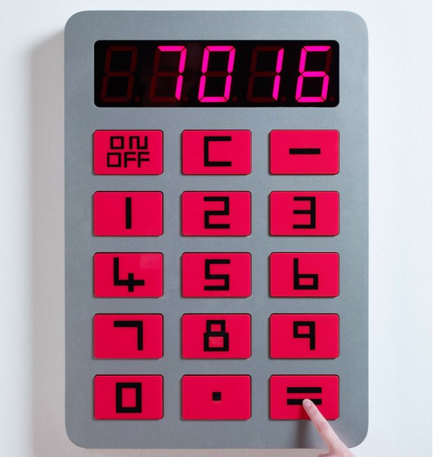 What's wrong with David Shrigley's calculator?