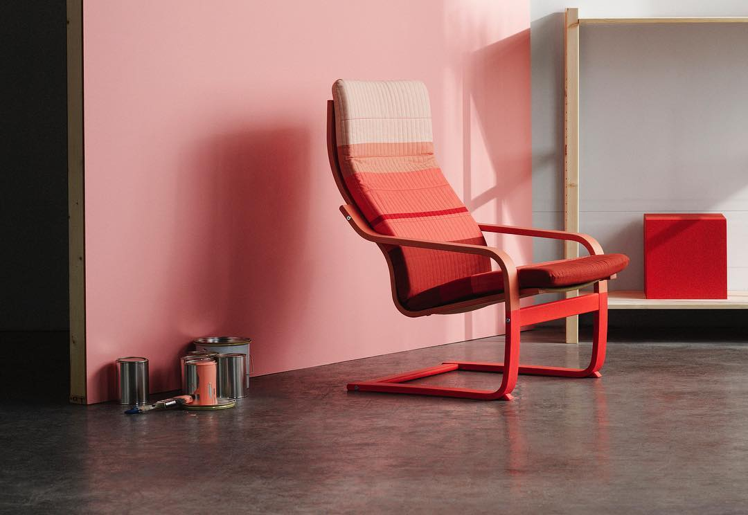 Scholten & Baijings' new update of the Poäng chair. Image courtesy of the designers