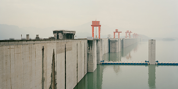 Three Gorges Dam I (Mountains and Rivers remain), 2007 Yichang Hubei Province, China - Nadav Kander. From Shooting Space