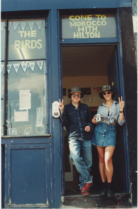 Sarah Lucas and Tracey Emin at The Shop in 1993