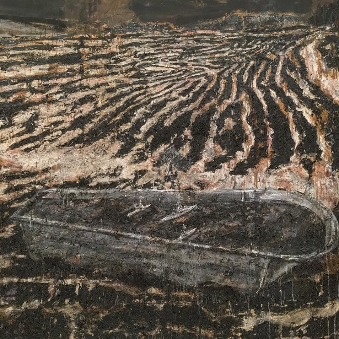 Detail: Operation Sea Lion by Anselm Kiefer, photograph by Stephen Shore. Image courtesy of Stephen Shore's Instagram