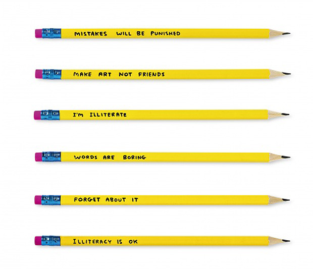 David Shrigley's pencils for Flying Tiger Copenhagen